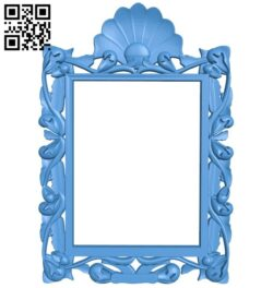 Picture frame or mirror A005149 download free stl files 3d model for CNC wood carving