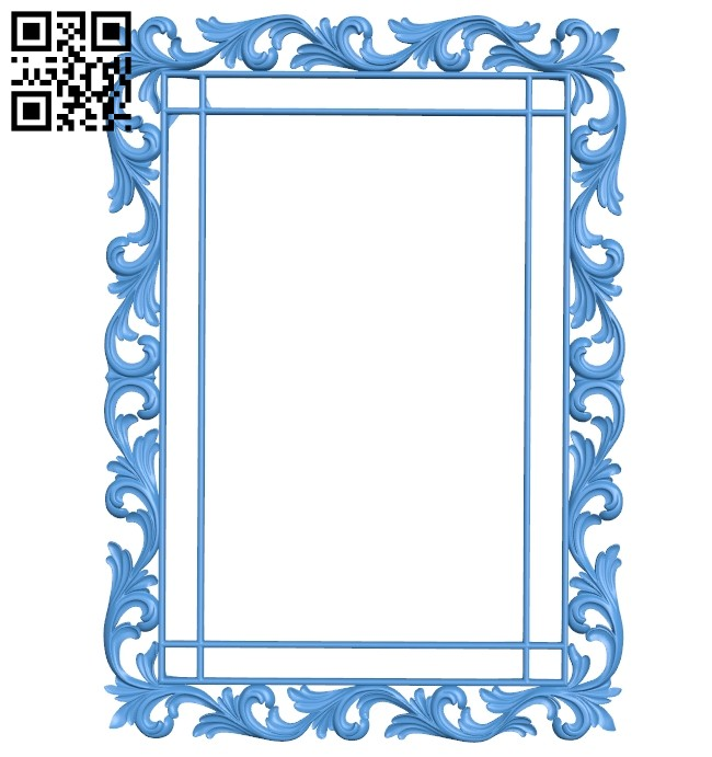 Picture frame or mirror A005177 download free stl files 3d model for CNC wood carving