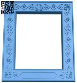 Picture frame or mirror A005179 download free stl files 3d model for CNC wood carving