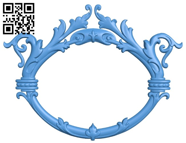 Picture frame or mirror A005199 download free stl files 3d model for CNC wood carving