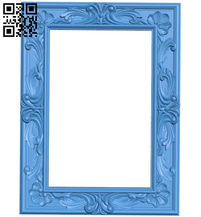 Picture frame or mirror A005221 download free stl files 3d model for CNC wood carving