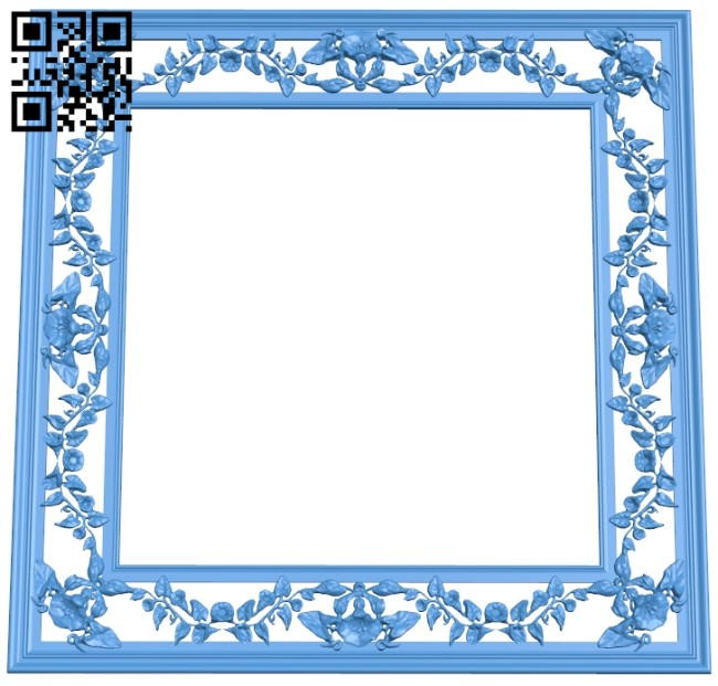 Picture frame or mirror A005222 download free stl files 3d model for CNC wood carving