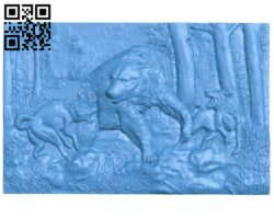 Pictures of hunting dogs and bears A005095 download free stl files 3d model for CNC wood carving