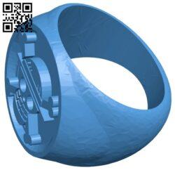 Pirate skull ring B007698 file stl free download 3D Model for CNC and 3d printer