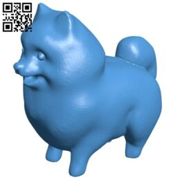 Pomeranian spitz dog B007660 file stl free download 3D Model for CNC and 3d printer