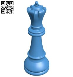 Queen – chess B007620 file stl free download 3D Model for CNC and 3d printer