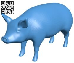 Realistic pig B008005 file stl free download 3D Model for CNC and 3d printer