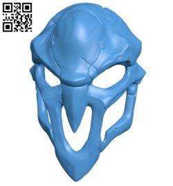 Reaper mask B007994 file stl free download 3D Model for CNC and 3d printer