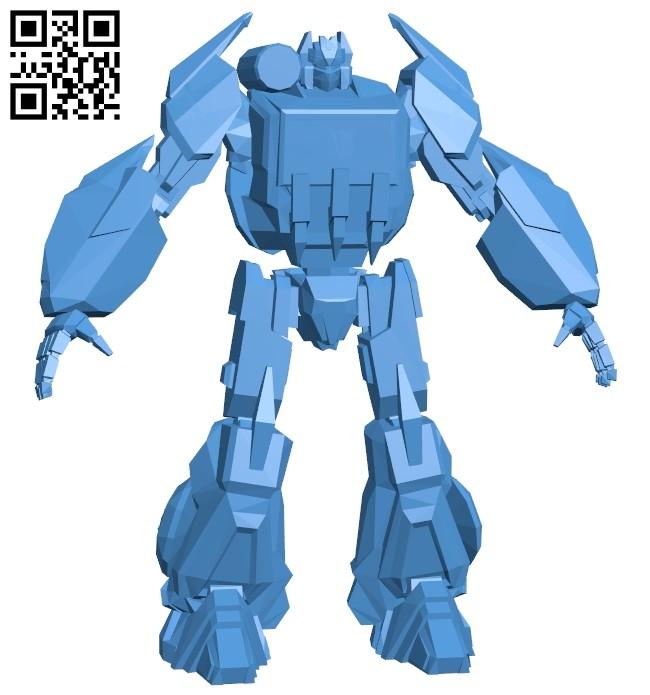 Robot sound wave B007882 file stl free download 3D Model for CNC and 3d printer