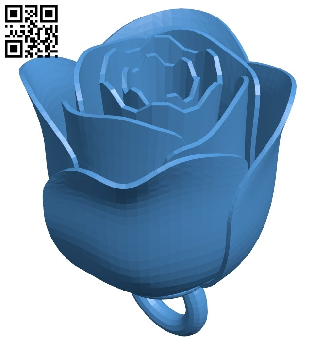 Rose keychain B007963 file stl free download 3D Model for CNC and 3d printer