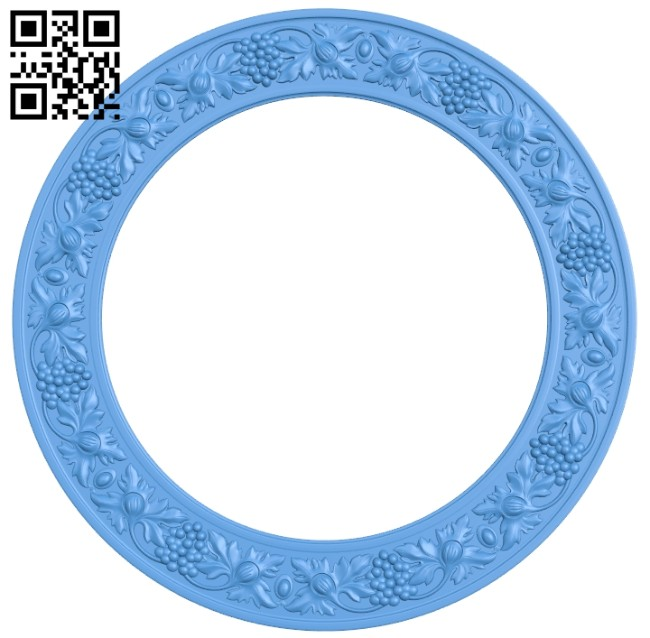 Round frame pattern A005218 download free stl files 3d model for CNC wood carving