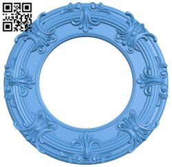 Round frame pattern A005220 download free stl files 3d model for CNC wood carving