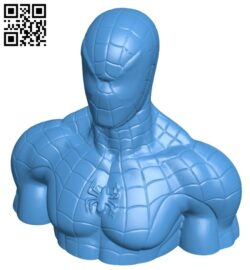 Scan spiderman – super hero B007729 file stl free download 3D Model for CNC and 3d printer