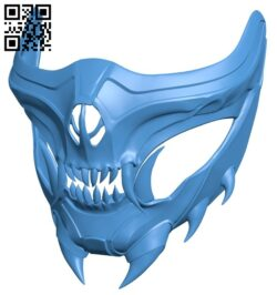 Scorpion mask B007727 file stl free download 3D Model for CNC and 3d printer