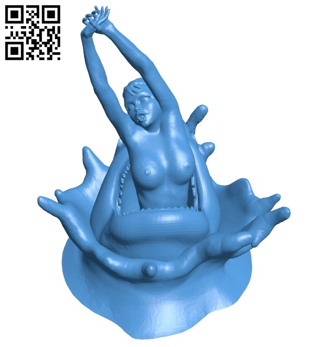 Shark attack women B007945 file stl free download 3D Model for CNC and 3d printer