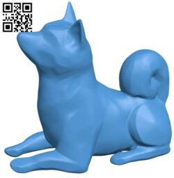 Shiba inu dog B007913 file stl free download 3D Model for CNC and 3d printer