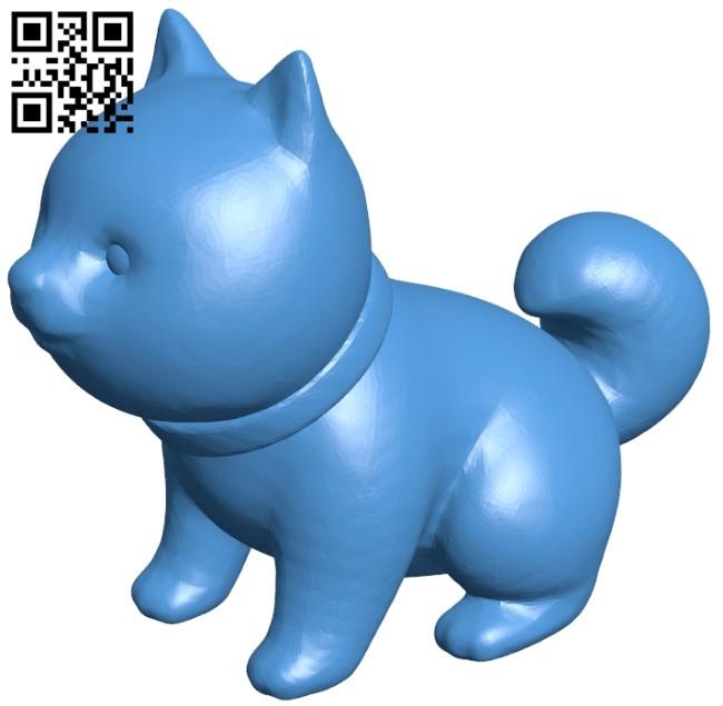 Shiba inu dog B007917 file stl free download 3D Model for CNC and 3d printer