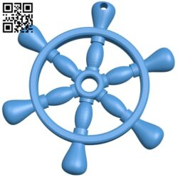 Ship wheel pendant B007702 file stl free download 3D Model for CNC and 3d printer