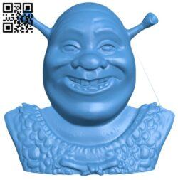 Shrek magnet B008003 file stl free download 3D Model for CNC and 3d printer