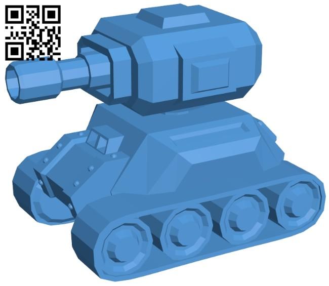 Simple tank B007922 file stl free download 3D Model for CNC and 3d printer