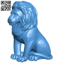 Sitting lion B007891 file stl free download 3D Model for CNC and 3d printer