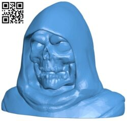 Skeletor bust B007667 file stl free download 3D Model for CNC and 3d printer