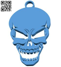 Skull keyring – keychain B007672 file stl free download 3D Model for CNC and 3d printer