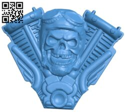 Skull pilot harley B007826 file stl free download 3D Model for CNC and 3d printer