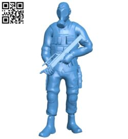 Smoker with smg man B007836 file stl free download 3D Model for CNC and 3d printer