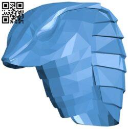 Snake helmet B008035 file stl free download 3D Model for CNC and 3d printer