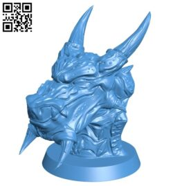 Snow dragon head B007750 file stl free download 3D Model for CNC and 3d printer