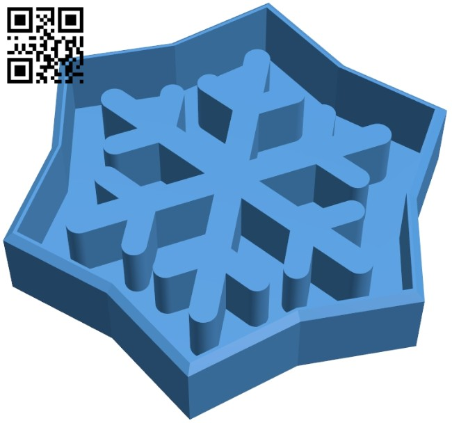 Snowflake cookie cutter B008000 file stl free download 3D Model for CNC and 3d printer