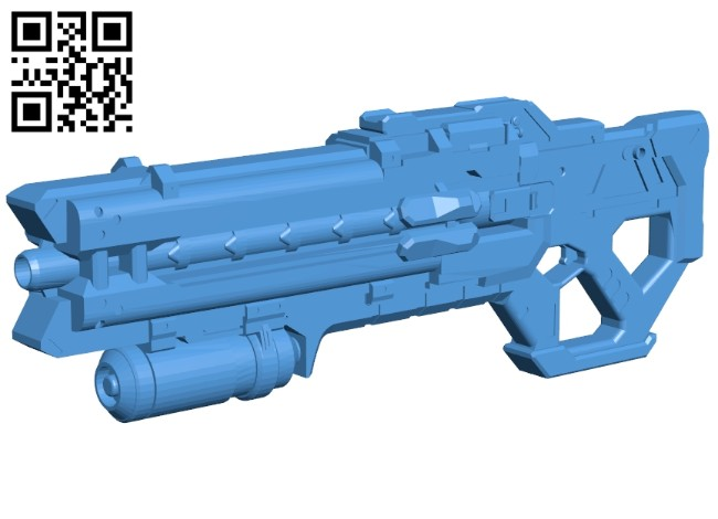 Soldier 76 gun B008038 file stl free download 3D Model for CNC and 3d printer