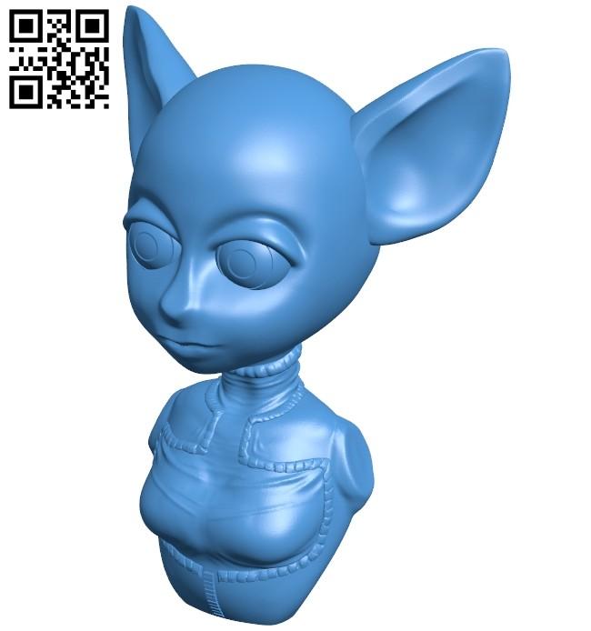 Space cadet - cat B007973 file stl free download 3D Model for CNC and 3d printer