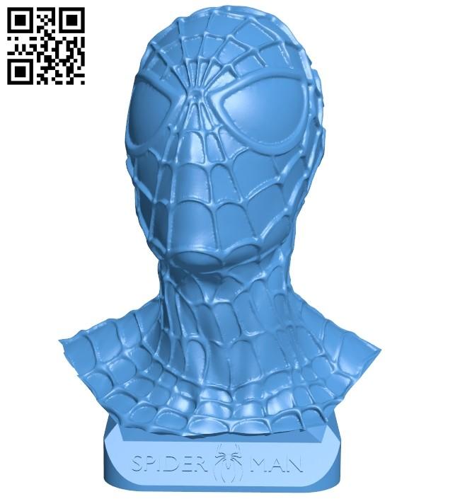 Spider magnet - bust superhero B007903 file stl free download 3D Model for CNC and 3d printer