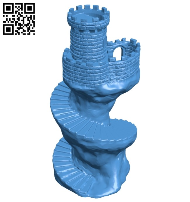 Spiral tower - house B007981 file stl free download 3D Model for CNC and 3d printer