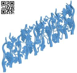 Stair railing with vine shape A005088 download free stl files 3d model for CNC wood carving