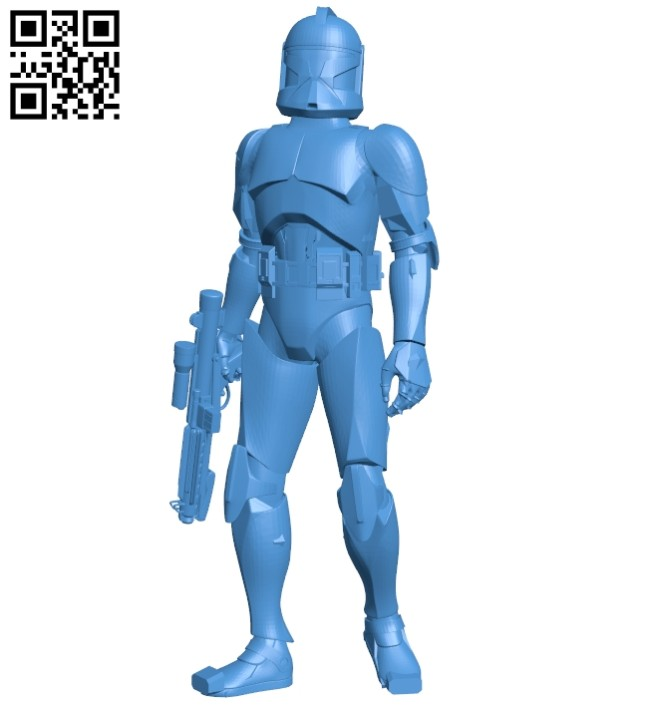 Star wars clone trooper B007991 file stl free download 3D Model for CNC and 3d printer