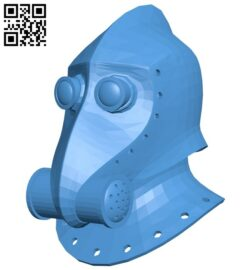 Steampunk helmet B007699 file stl free download 3D Model for CNC and 3d printer