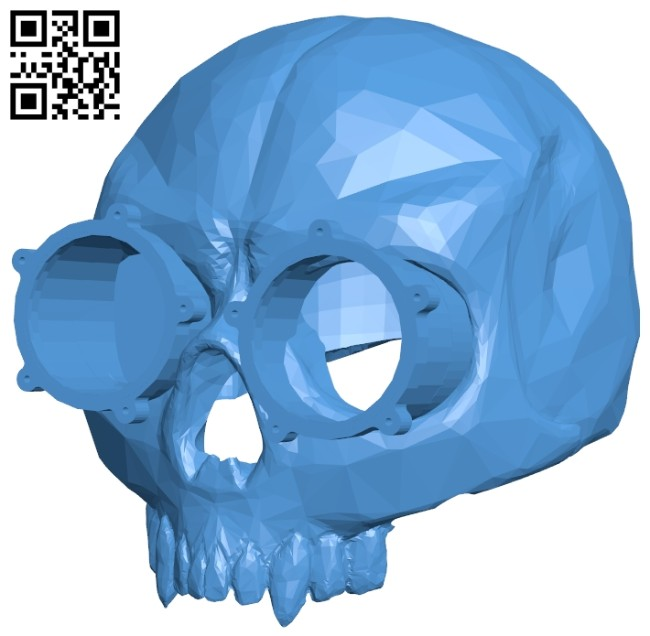 Steampunk skull B008001 file stl free download 3D Model for CNC and 3d printer