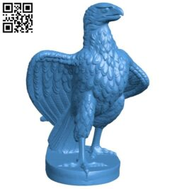 Striding Eagle B007708 file stl free download 3D Model for CNC and 3d printer