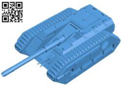 Tank Destroyer B007741 file stl free download 3D Model for CNC and 3d printer