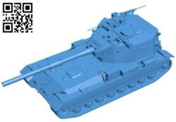 Tank FV215b B007777 file stl free download 3D Model for CNC and 3d printer