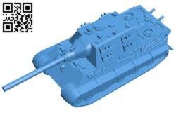 Tank Jagdtiger B007841 file stl free download 3D Model for CNC and 3d printer
