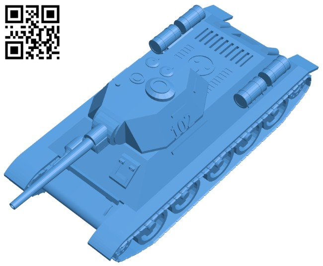 Tank T-34-85 rudy B007980 file stl free download 3D Model for CNC and 3d printer