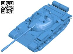 Tank T-55 B008018 file stl free download 3D Model for CNC and 3d printer