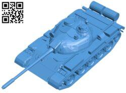 Tank T-55 B008018 file stl free download 3D Model for CNC and 3d printer