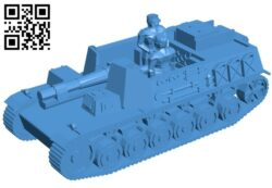 Tank panzer II bison B007937 file stl free download 3D Model for CNC and 3d printer