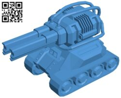 Tank with double guns B007999 file stl free download 3D Model for CNC and 3d printer