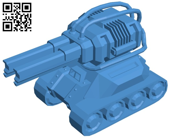 Tank with double guns B007998 file stl free download 3D Model for CNC and 3d printer